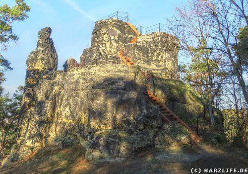 Der Gläserne Mönch in den Thekenbergen bei Halberstadt