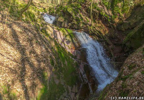 Blick auf den Lonauer Wasserfall