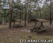 Ein Rastplatz im Wald