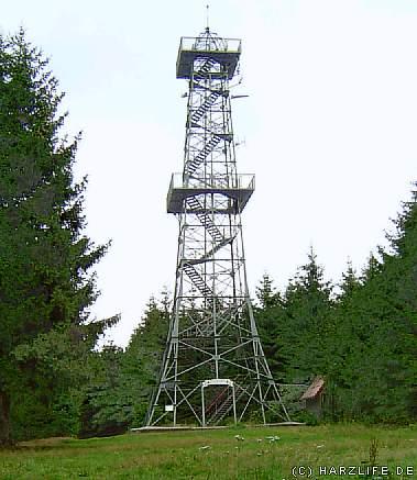 Der Aussichtsturm auf dem Poppenberg