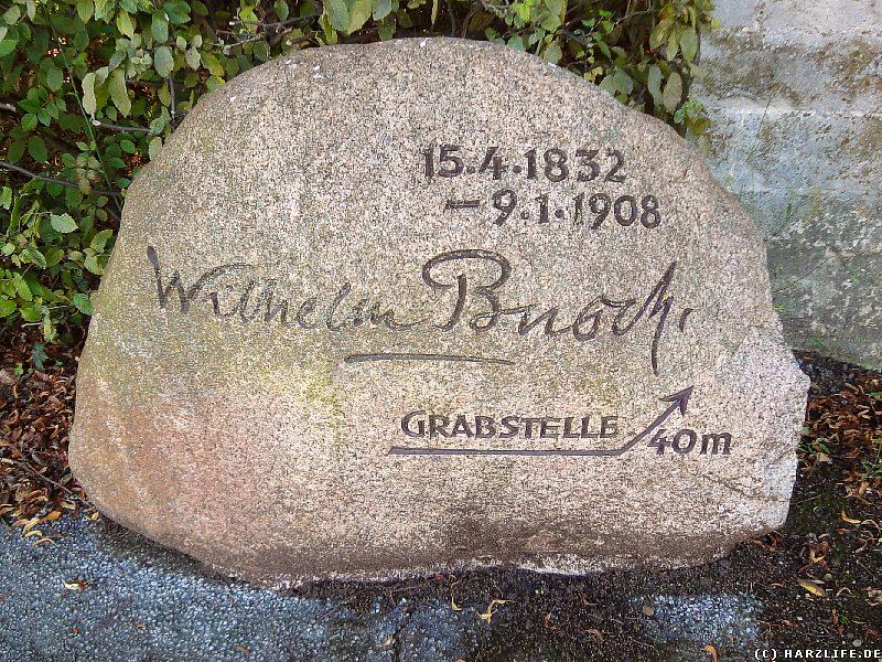 Die Grabstelle von Wilhelm Busch