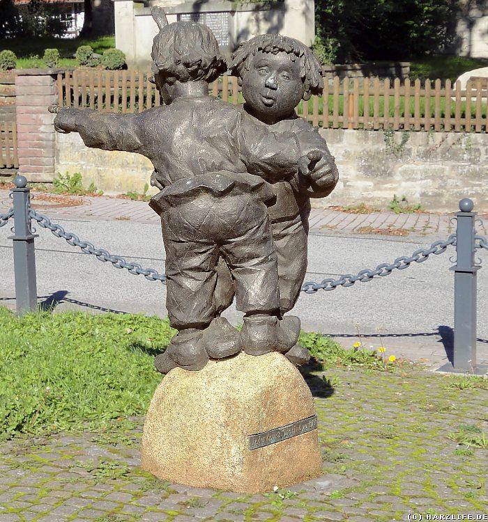 Max-und-Moritz-Denkmal in Mechtshausen