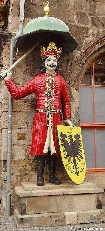 Der Roland vor dem Alten Rathaus von Nordhausen