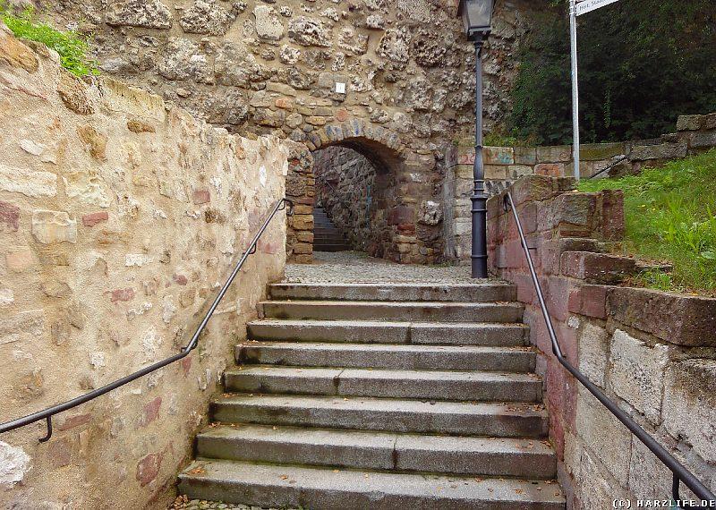 Stadtmauer und Kutteltreppe in Nordhausen