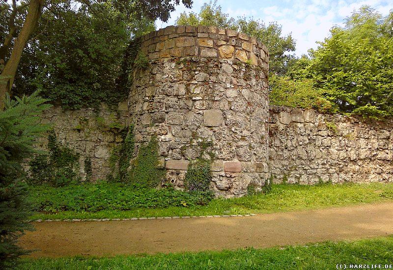Stadtmauer mit Wachturm in Nordhausen