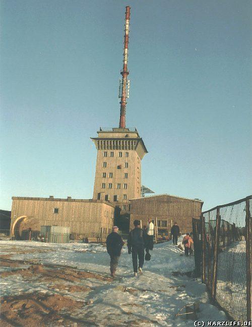 Der Brockengipfel Anfang der 90er Jahre