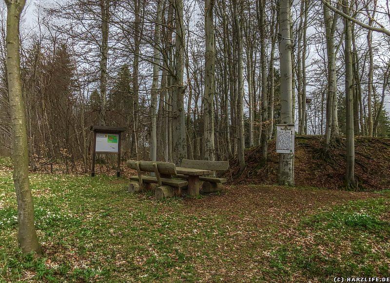 Der Rastplatz an der Burgruine Erichsburg