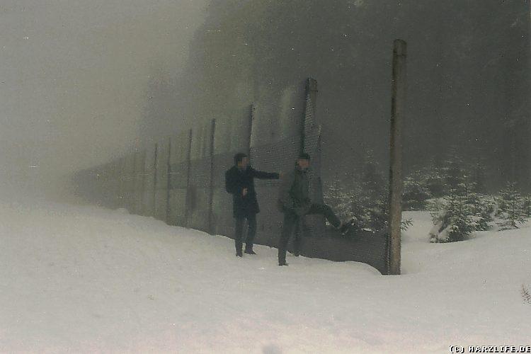 Reste des Grenzzaunes der ehemaligen innerdeutschen Grenze nahe des Eckersprungs