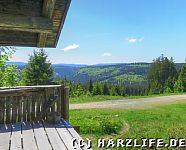 Aussicht von der Skihütte