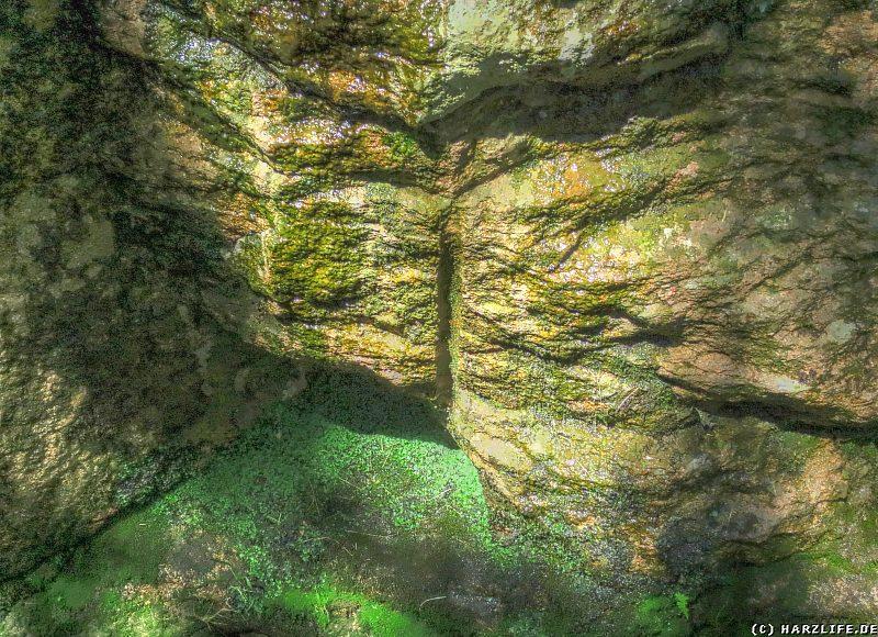 Bohrloch aus der Bauphase des Rehberger Grabens