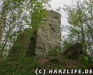 Dolomit-Felsblock