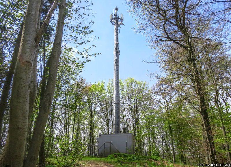 Der Antennenmast auf dem Stauffenbüttel