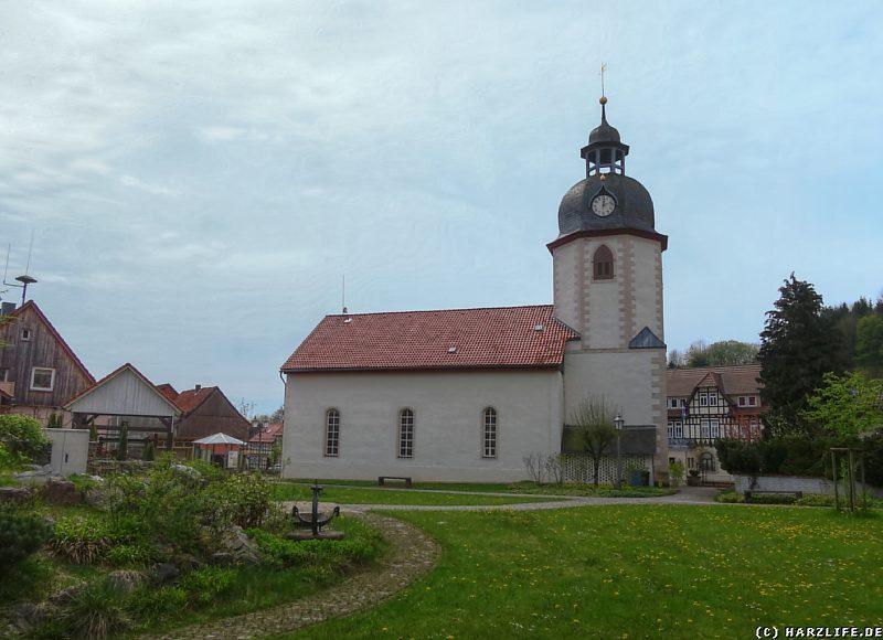 Blick vom Kurgarten zur Katharinen-Kirche