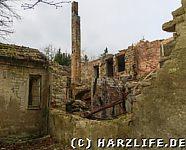 Blick in eine eingestürzte Ruine