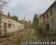 Hauptstraße des einstigen Betriebsferienheims