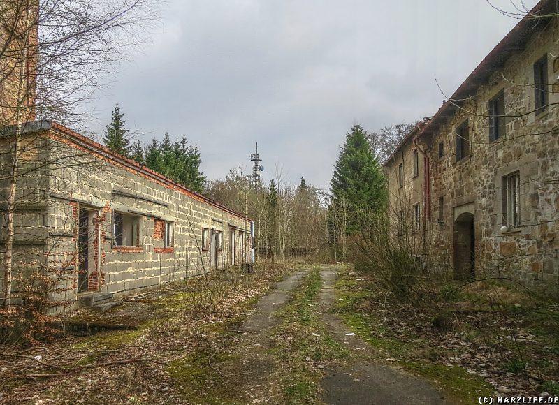 An der Hauptstraße des einstigen Betriebsferienheims