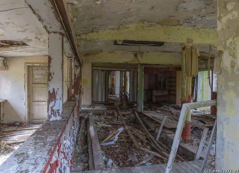 Blick in das Innere der Gaststätte auf der Viktorshöhe