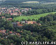 Blick vom Meineberg zum Kloster Ilsenburg