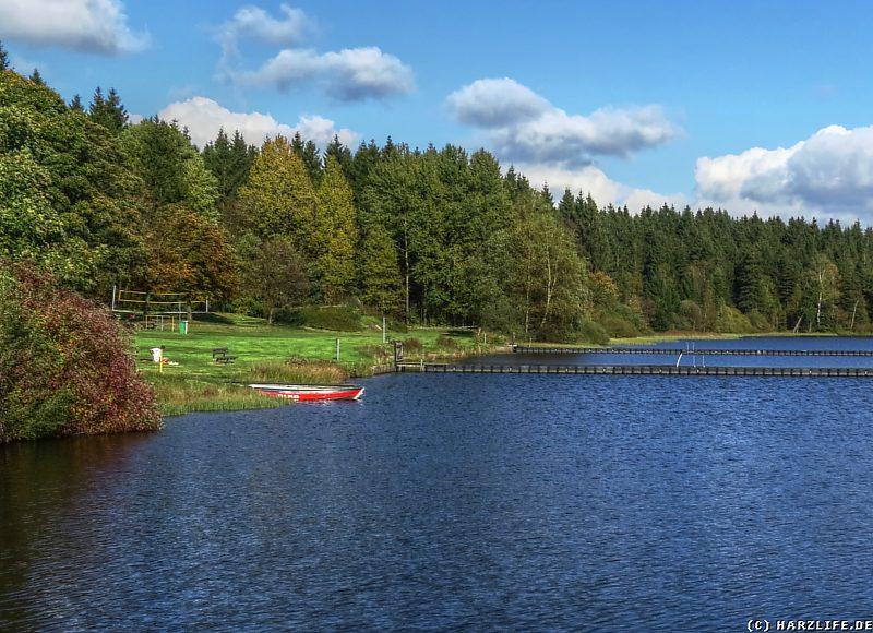 Badestrand am Oberen Haus-Herzberger Teich