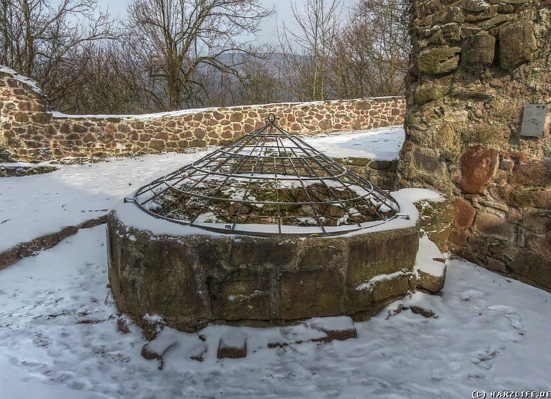 Der Burgbrunnen der Burg Hohnstein