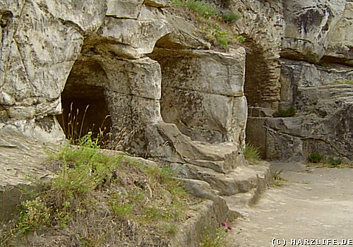 Felshöhle auf der Burgruine Regenstein
