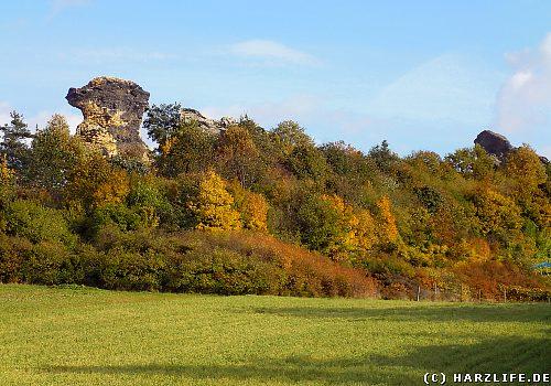 Wegen seiner markanten Form wird der Königstein auch Kamelfelsen genannt.