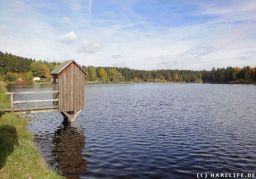 Der Obere Haus-Herzberger Teich in Clausthal-Zellerfeld im Harz