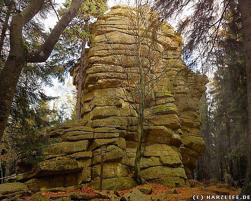 Eine der von Goethe beschriebenen ''langen Felsennasen''