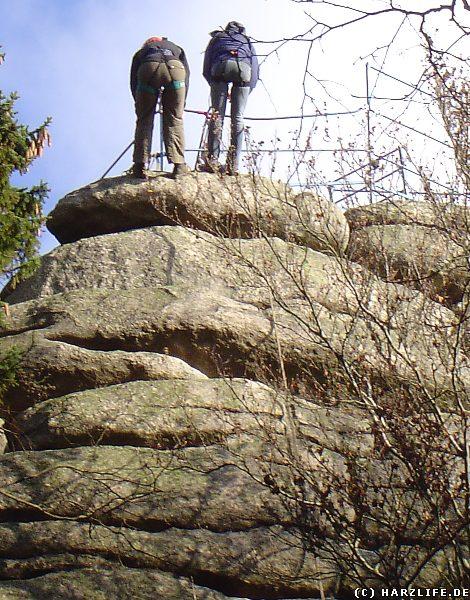 Die Schnarcherklippen sind beliebte Kletterfelsen