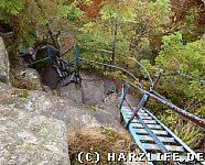 Eisenleiter zum Gipfel der Schnarcherklippe