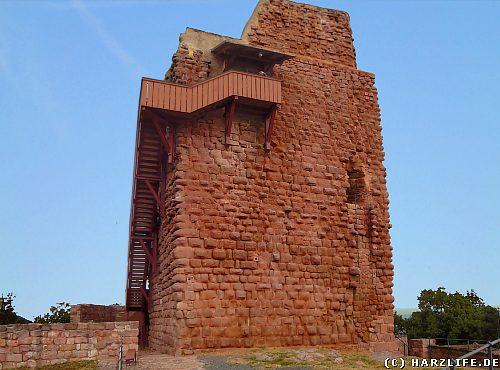 Der Barbarossaturm auf der Oberburg der Reichsburg Kyffhausen im Kyffhäusergebirge