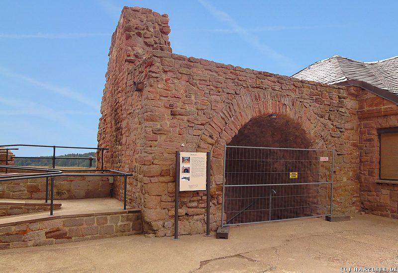 Burgruine Kyffhausen - Das Burgtor Erfurter Tor