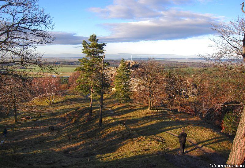 Burgruine Regenstein - Aussicht von der Bastion Friedrich-Wilhelms-Burg