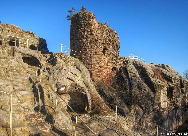 Der Bergfried der Burgruine Regenstein