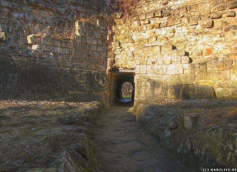 Burgruine Regenstein - Reste der Festungsmauern