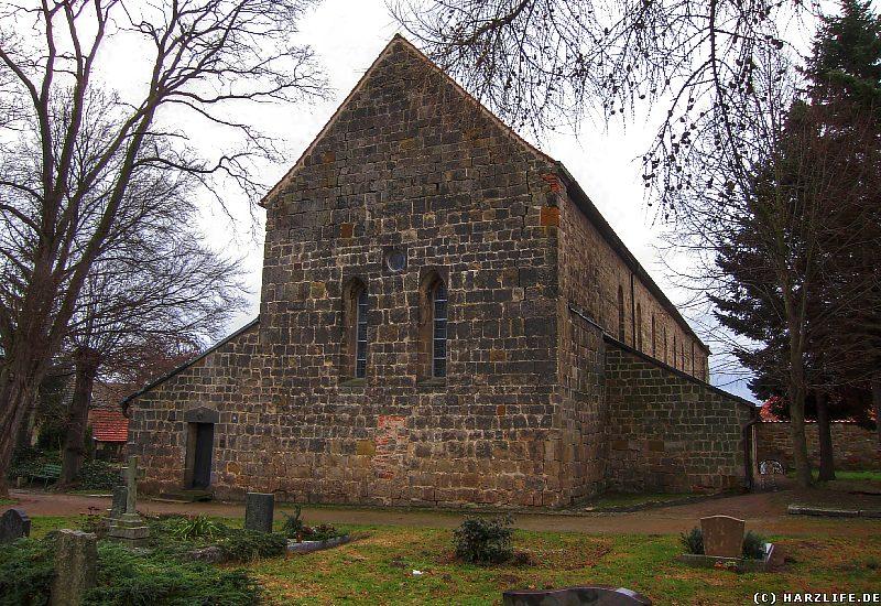 Westseite der St.-Wiperti-Kirche in Quedlinburg