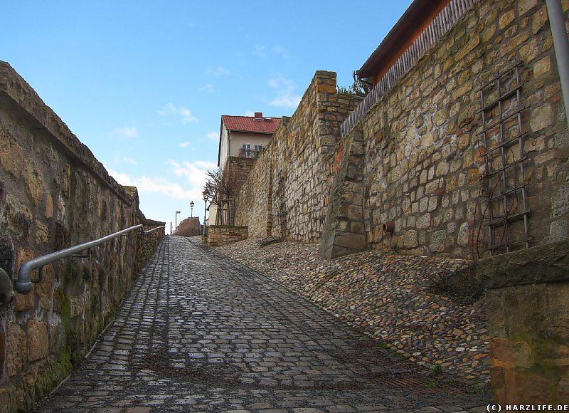 Aufgang zum Münzenberg in Quedlinburg