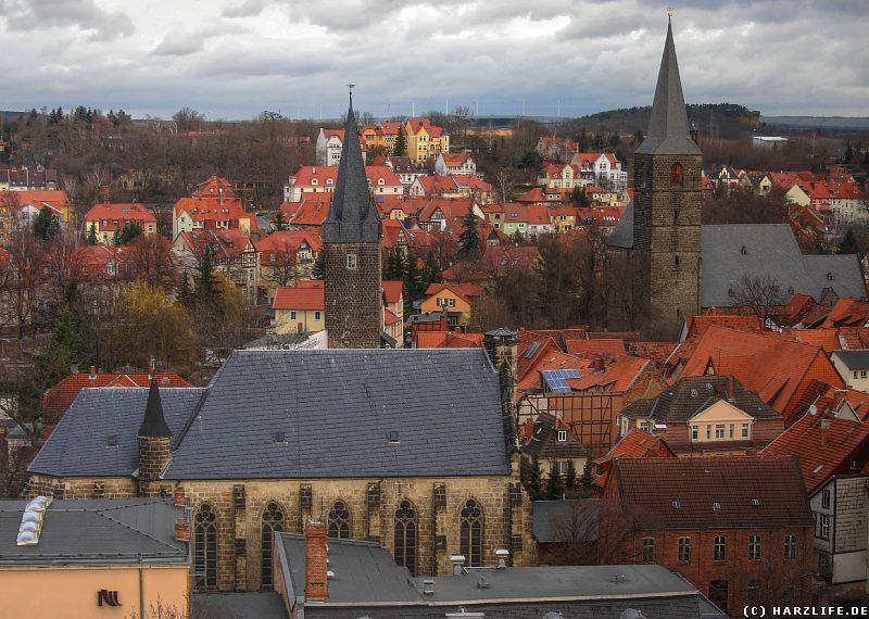 Aussicht auf Quedlinburg