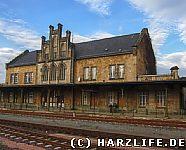 Der Bahnhof in Quedlinburg
