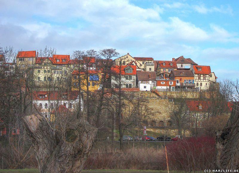 Blick zum Münzenberg in Quedlinburg