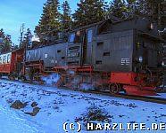 Die Brockenbahn auf der Rückfahrt