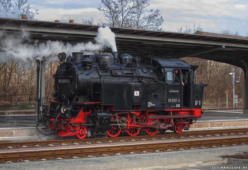 Quedlinburg - Dampflok beim Rangieren