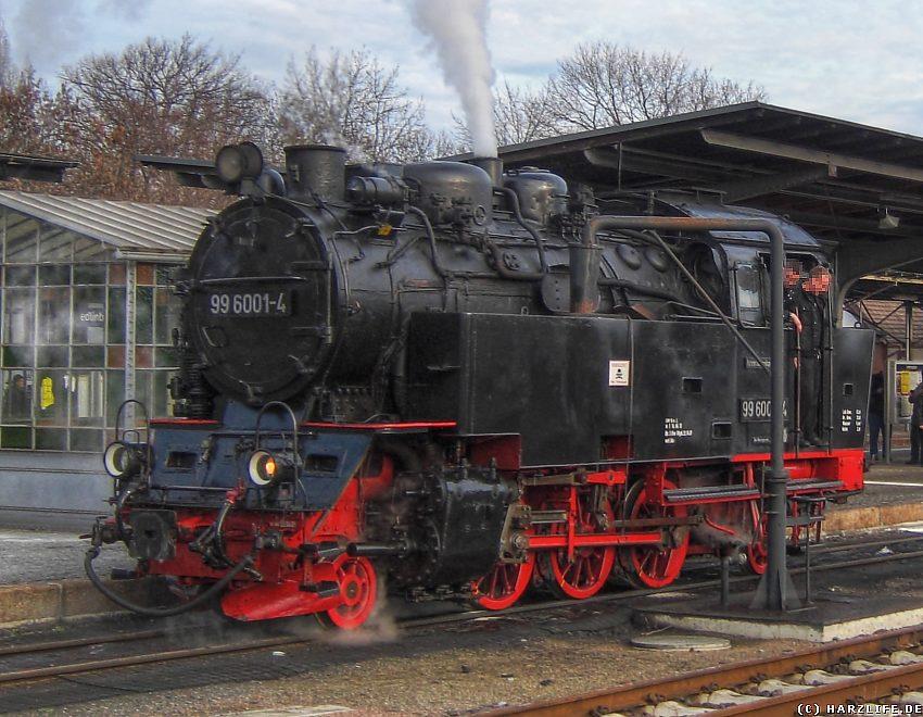 Quedlinburg - Dampflok tankt Wasser