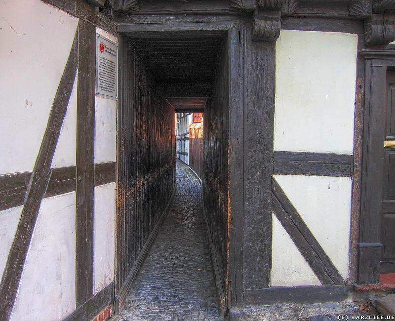 Die Demutsgasse  bzw. Rosengasse in Wernigerode