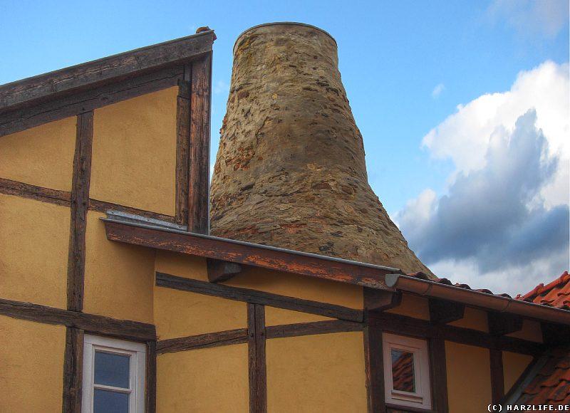 Münzenberg in Quedlinburg - Der Schornstein der Klosterküche