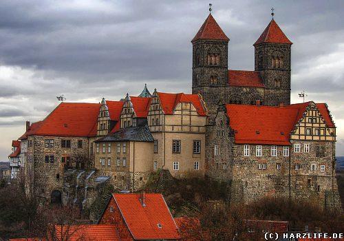 Quedlinburg - Schlossberg mit Schloss und Stiftskirche