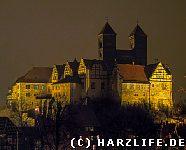 Schlossberg Quedlinburg bei Nacht
