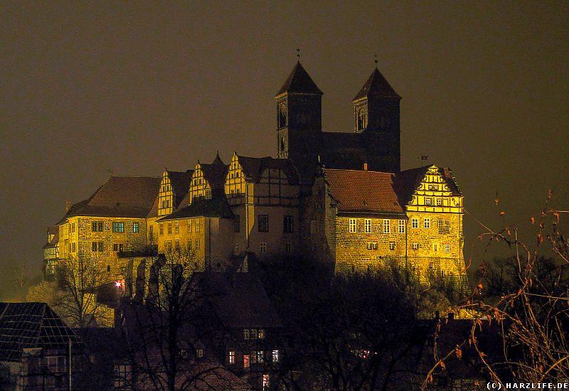 Quedlinburg - Der Schloßberg bei Nacht