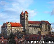 Schlossberg Quedlinburg vom Abteigarten gesehen