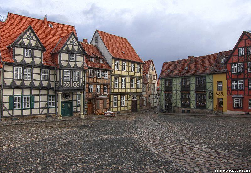 Quedlinburg - Der Schloßplatz mit dem Klopstockhaus